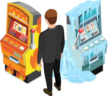 determining if a slot machine is hot or cold