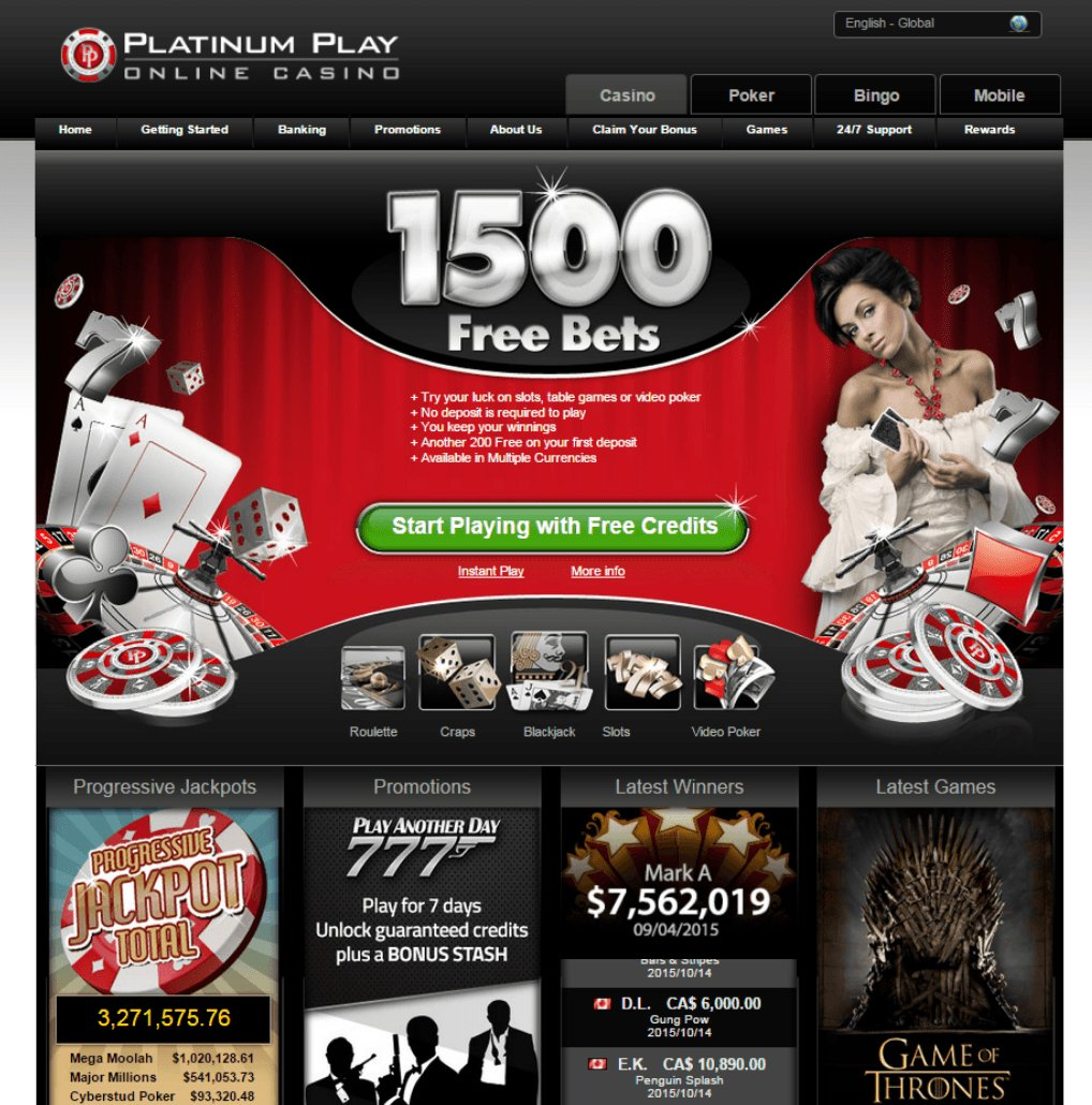 platinum play online casino review