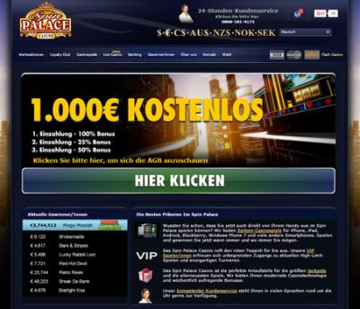 spin palace kasino germany