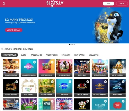 slots lv online casino review