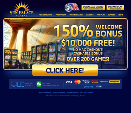 sun palace online casino reviews