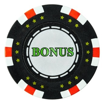 Poker chip inscribed with bonus