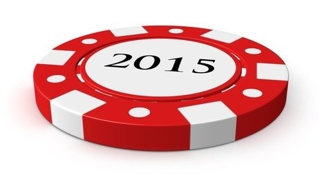 New Year 2015 casino chip