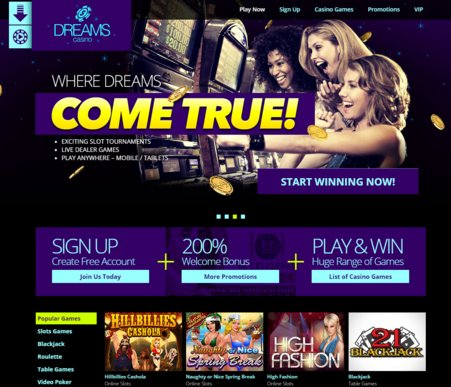 dreams casino online