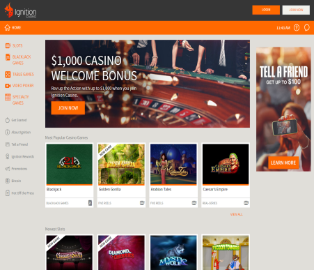 ignition casino online support