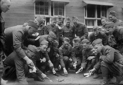 Soldiers Playing Dice