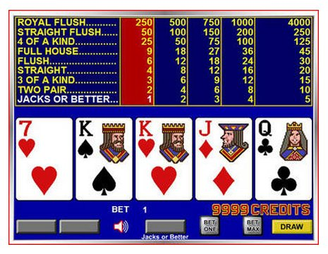 Screenshot Videopoker