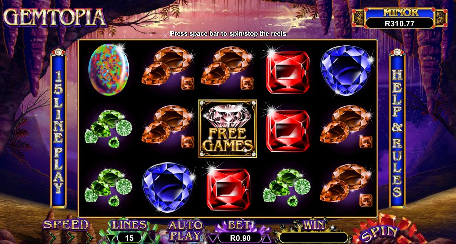 gemtopia slot game features