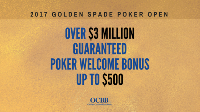 play the golden spade poker open 2017