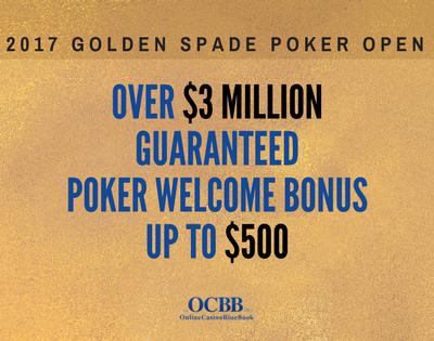 play the golden spade poker open 2017