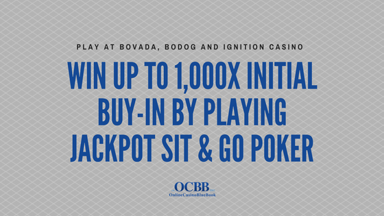 jackpot sit and go poker at bovada bodog and ignition