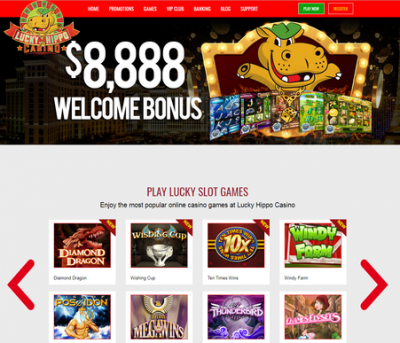 lucky hippo casino screenshot
