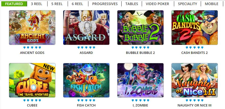 featured games at diamond reels