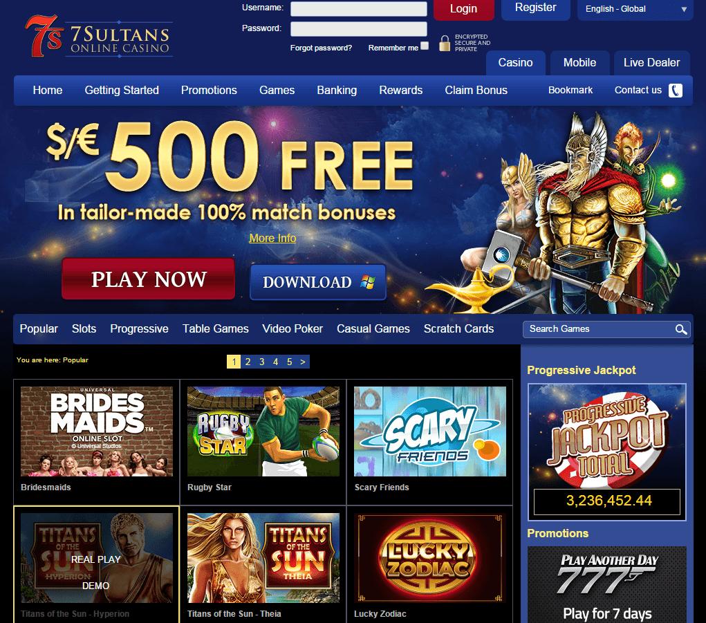 online 7sultans casino