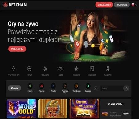 bet chan casino screenshot