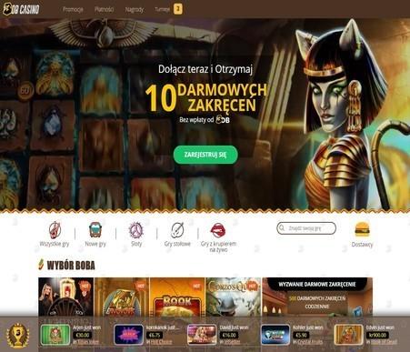 Zrzut ekranu z bonusem w kasynie Bob