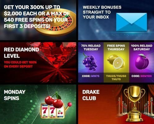 bonuses from drake casino