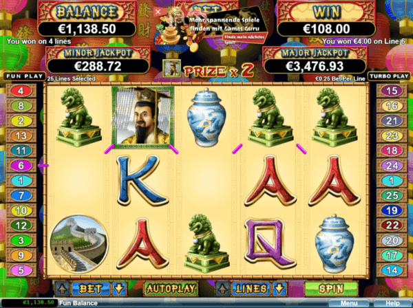 lucky 8 slot features