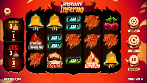 gameplay instant inferno slots