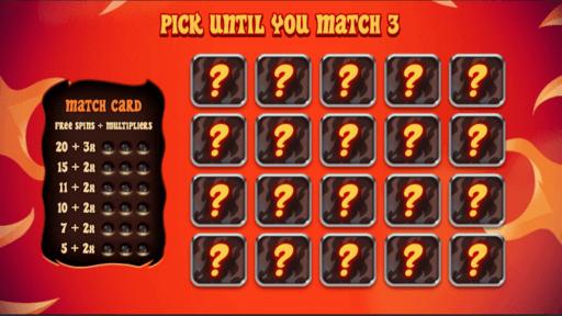 pick me instant inferno slot bonus game
