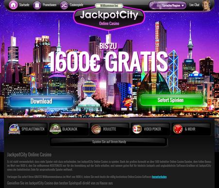 Zrzut ekranu z bonusem w kasynie Jackpotcity