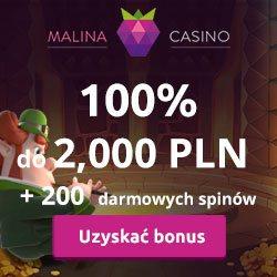 Malina Casino Uztyskać bonus