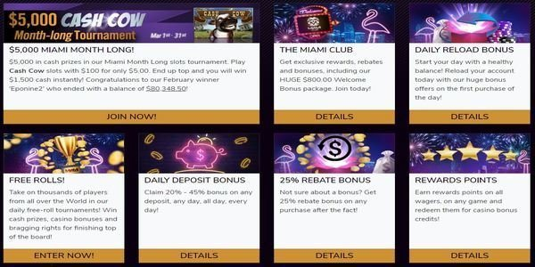 bonus promotions miami club casino