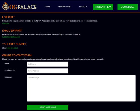 contact og palace casino