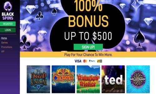 black spins online slots casino