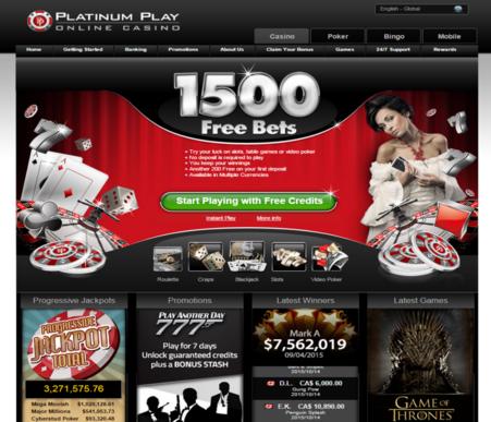 Zrzut ekranu z bonusem w kasynie Platinum Play