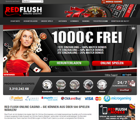 red flush kasino germany