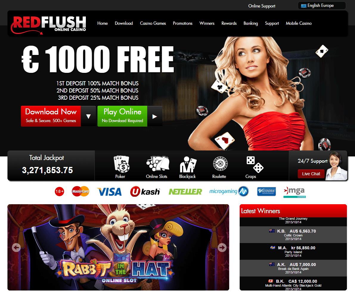 Red Flush Online Casino Download