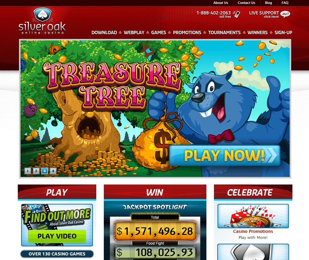 Silver Oak Casino bonus screenshot