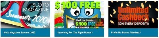 bonuses at sloto cash casino