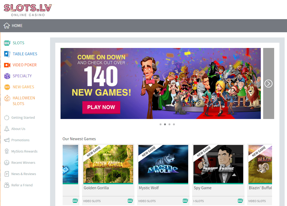 Slotslv casino bonus screenshot