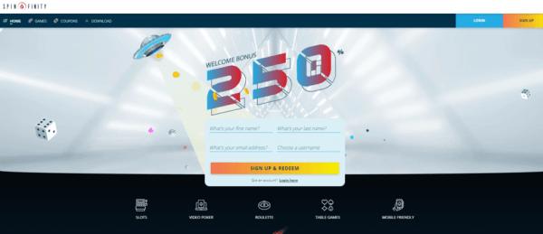 homepage spinfinity casino