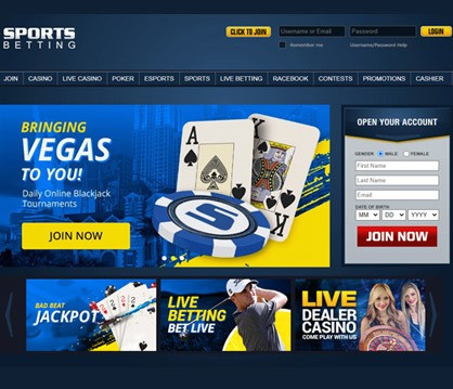 SportsBetting casino homepage